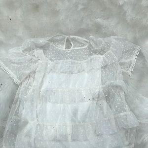 mesh white top💕